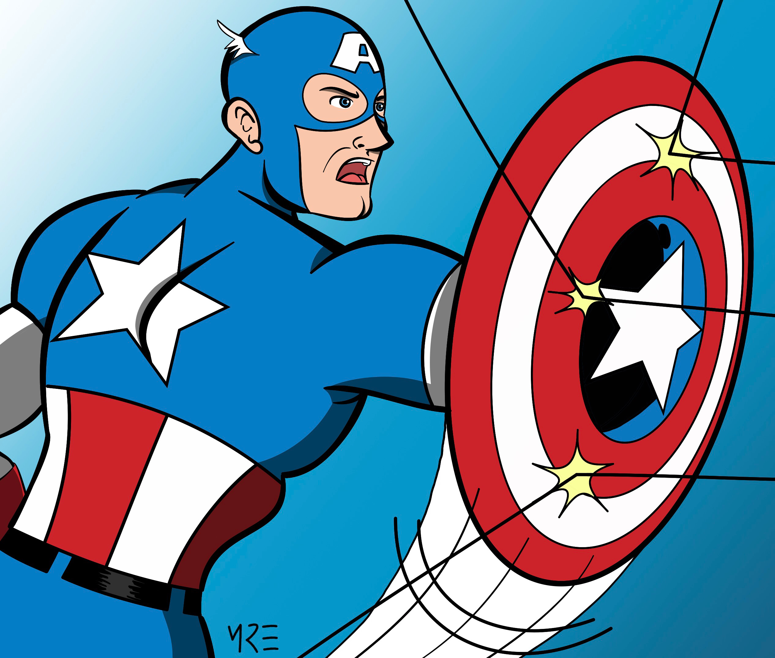 Captain America by MCRE1201