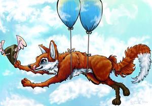 Flying Cake +Happy B-Day Nat+
