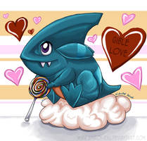 Gible Love :3 by shiroi-ryu