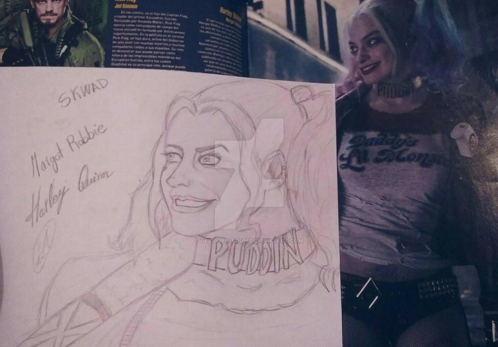 Margot Robbie as Harley Quinn  by GeliBubbleGum