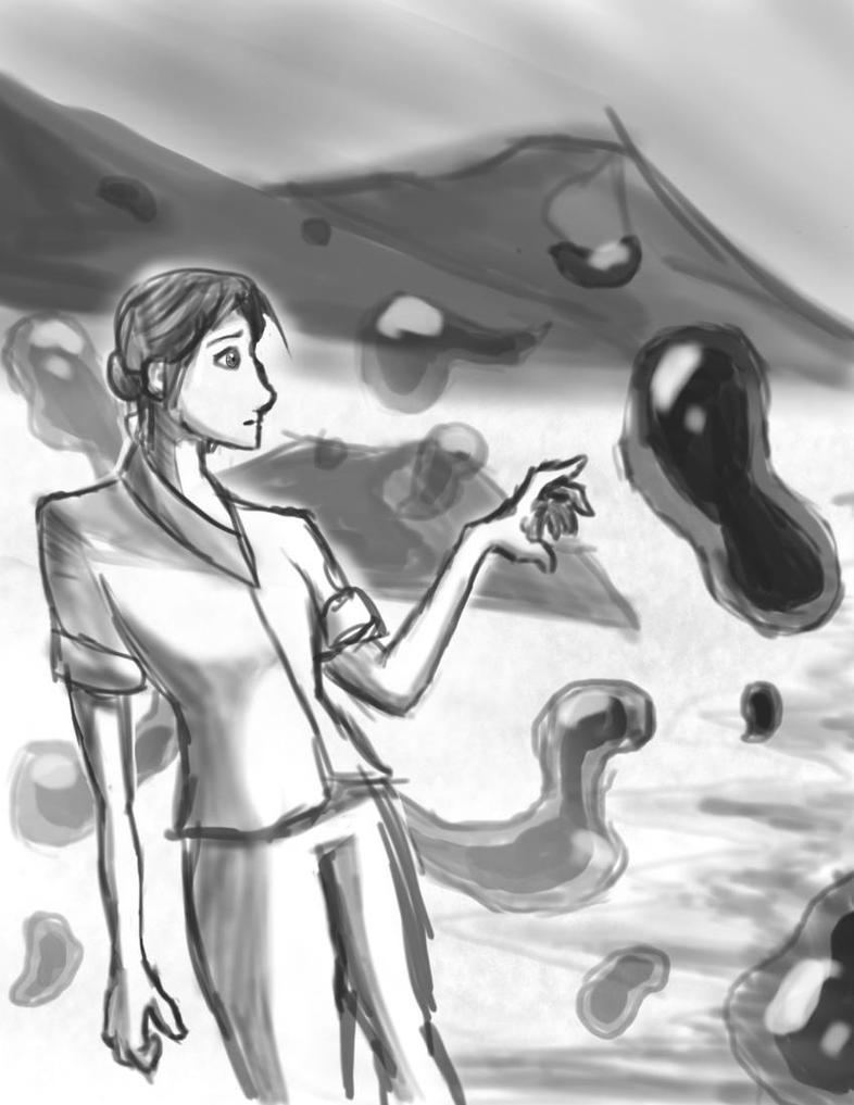 Water Girl Sketch by BradyPostma