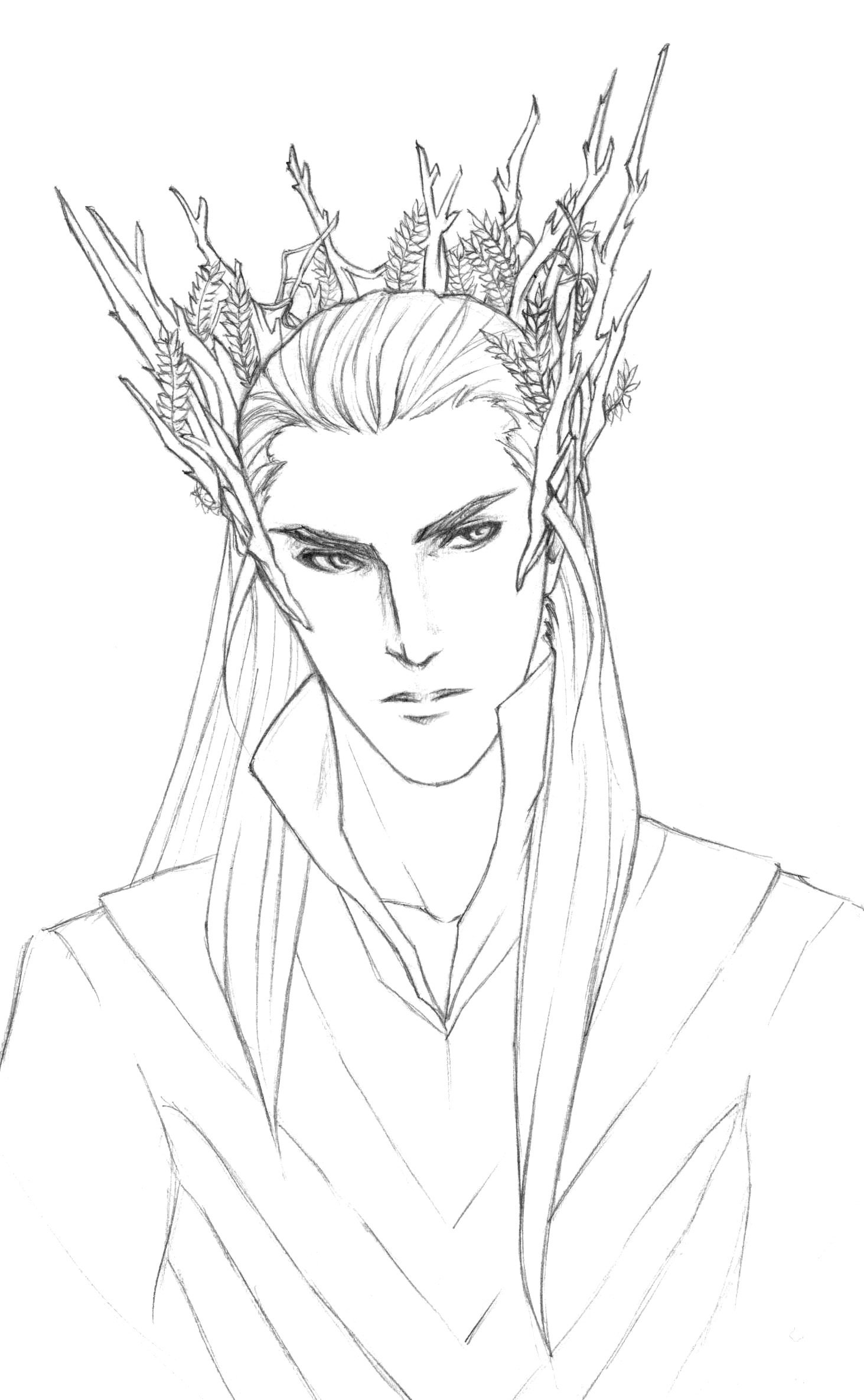 thranduil wip by cobaltk on deviantart