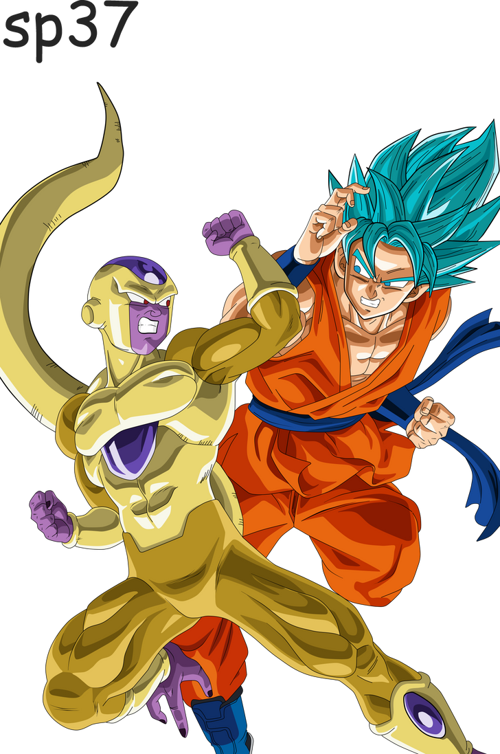 Goku Dios VS Golden Freezer by Supergoku37