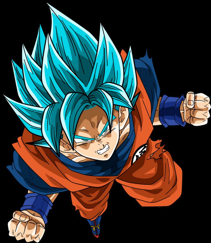 how to draw goku super saiyan blue