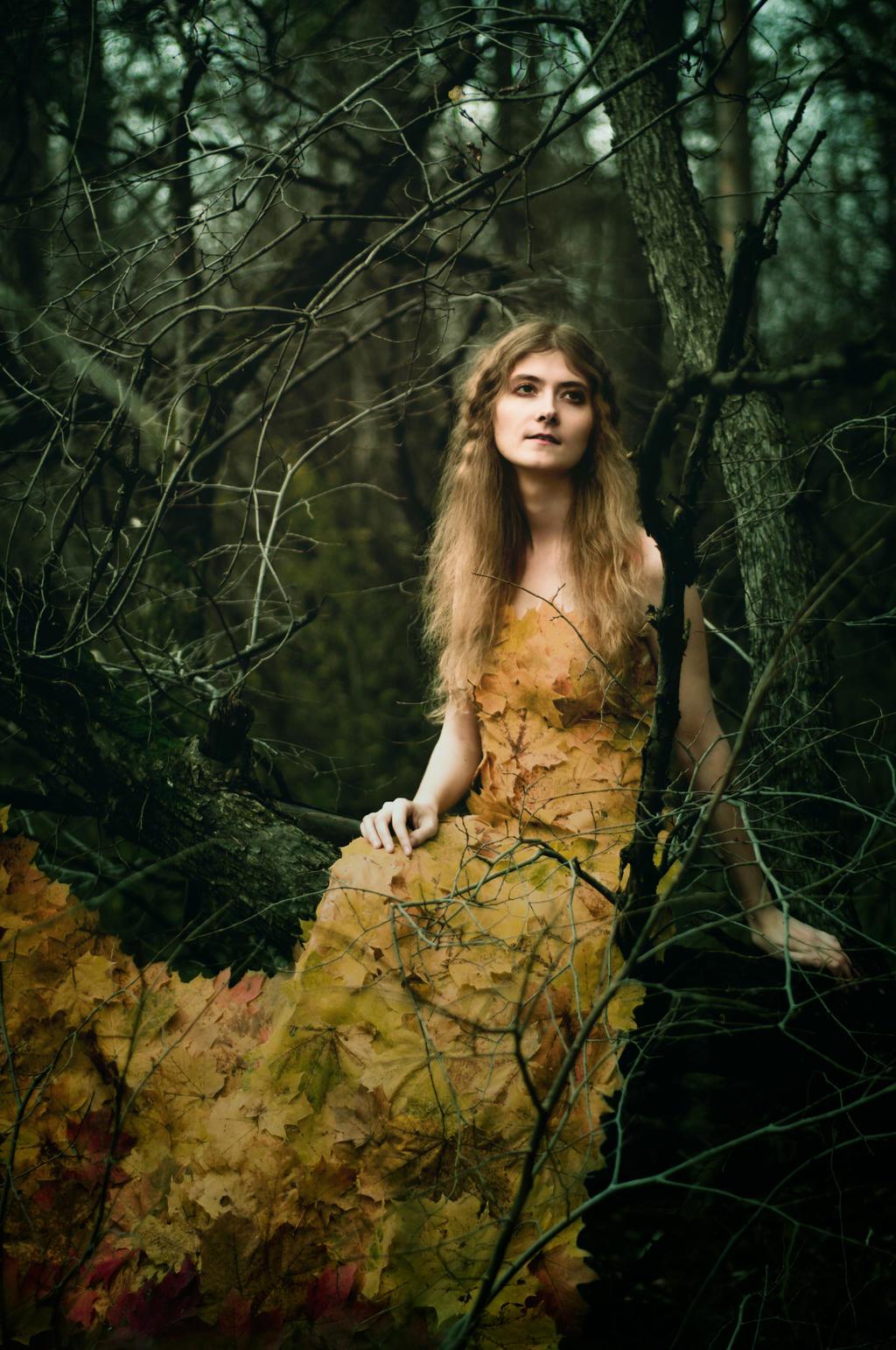Autumn girl II by Anna-Belash