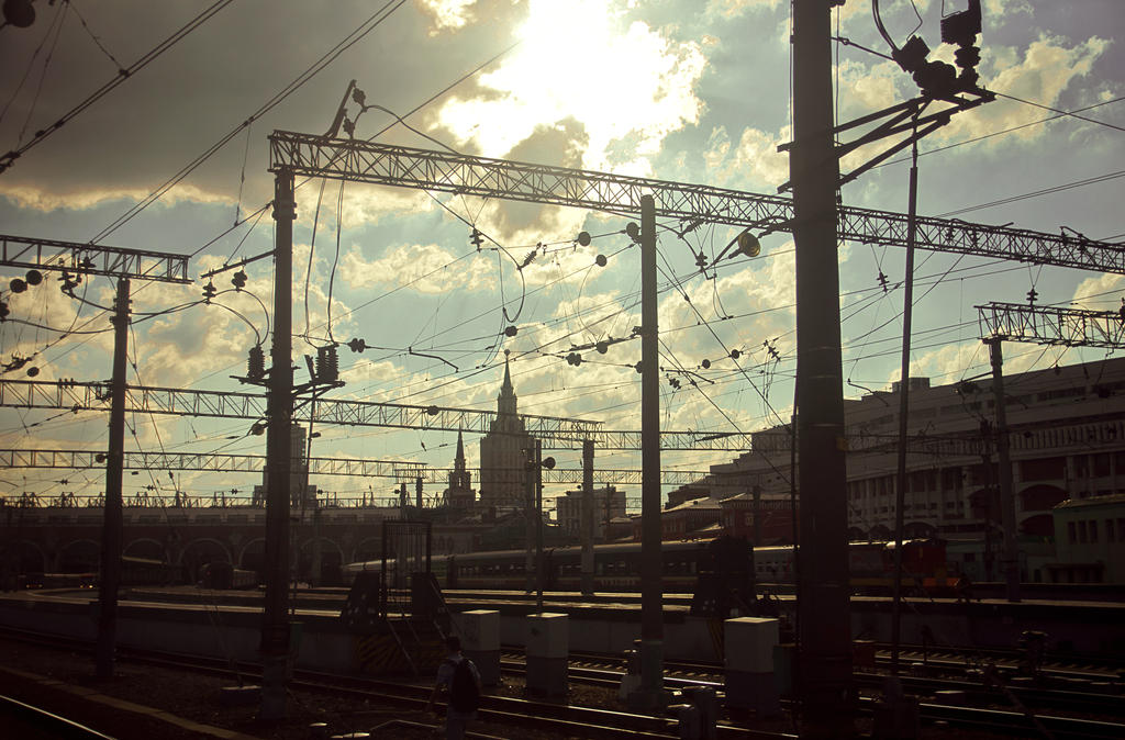 Day 14. View from the Kazan Railway Station by Anna-Belash