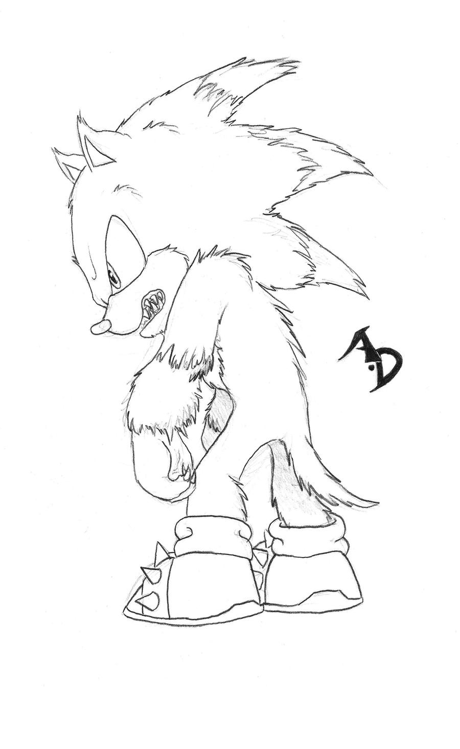 Sonic wolf coloring pages