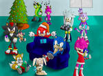 Sonic's christmas party