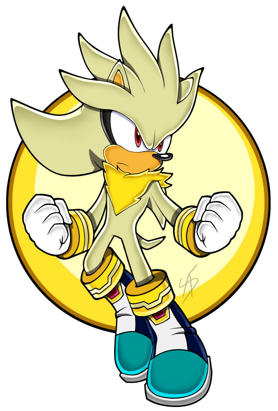 how to draw silver from sonic