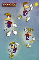 Rayman Through the Years by AbsoluteDream