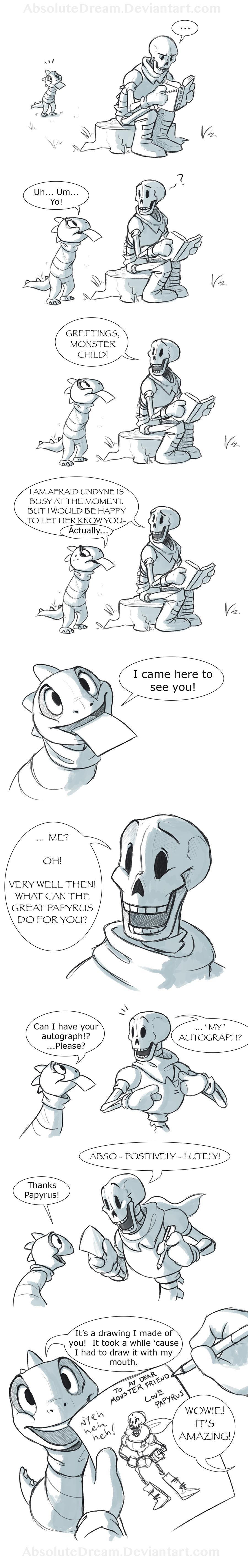 Papyrus's New Fan:  Part 1 of 3