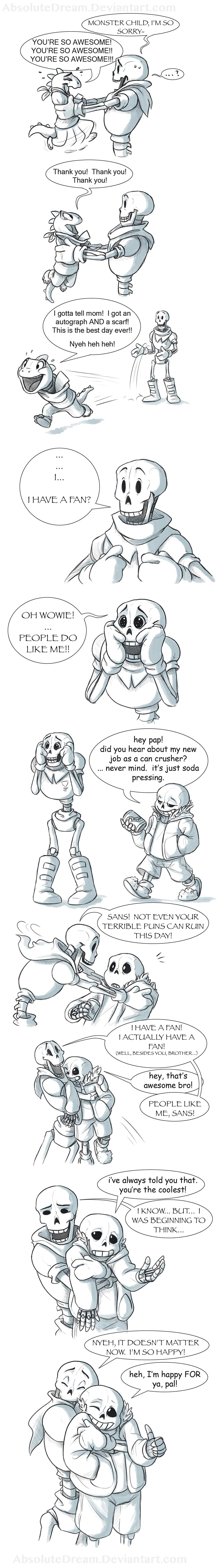 Papyrus's New Fan:  Part 3 of 3