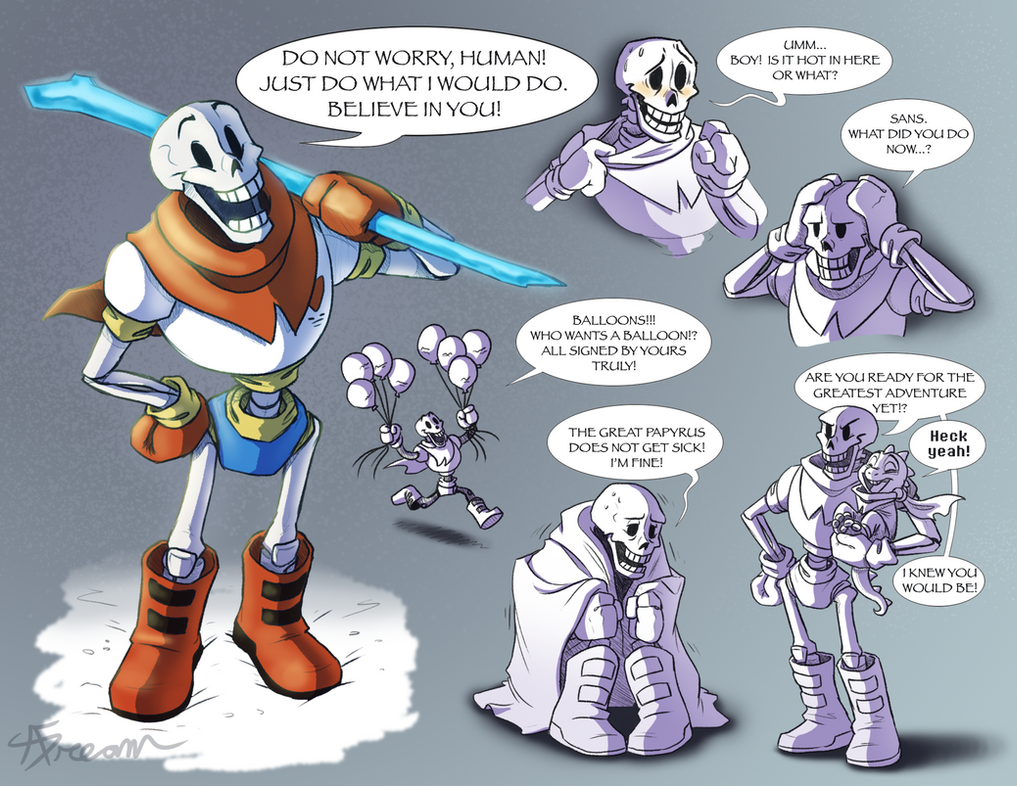 The Great Papyrus by AbsoluteDream on DeviantArt