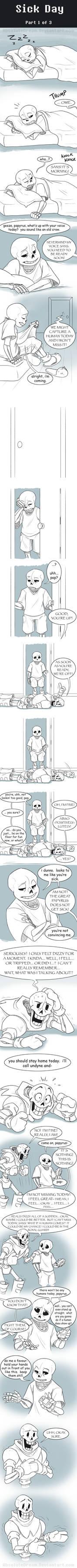 UT Comic: Sick Day Part1
