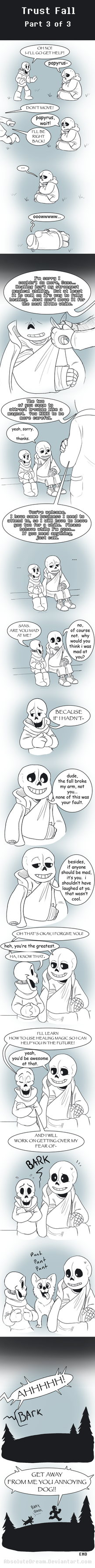 UT Comic:  Trust Fall - Part 3 of 3 by AbsoluteDream