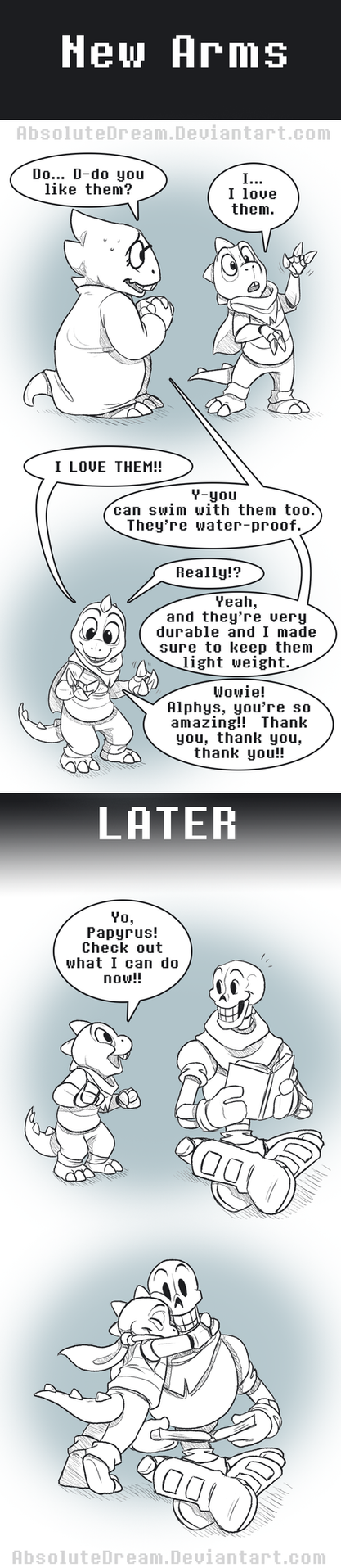 UT Comic: New Arms by AbsoluteDream