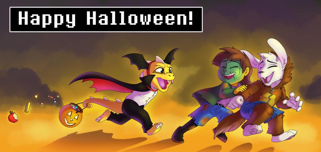 An Undertale Halloween by AbsoluteDream on DeviantArt