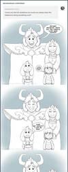 Cute Dreemurr Family by AbsoluteDream