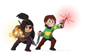 INTERLOPERS: Buddy and Chara by AbsoluteDream