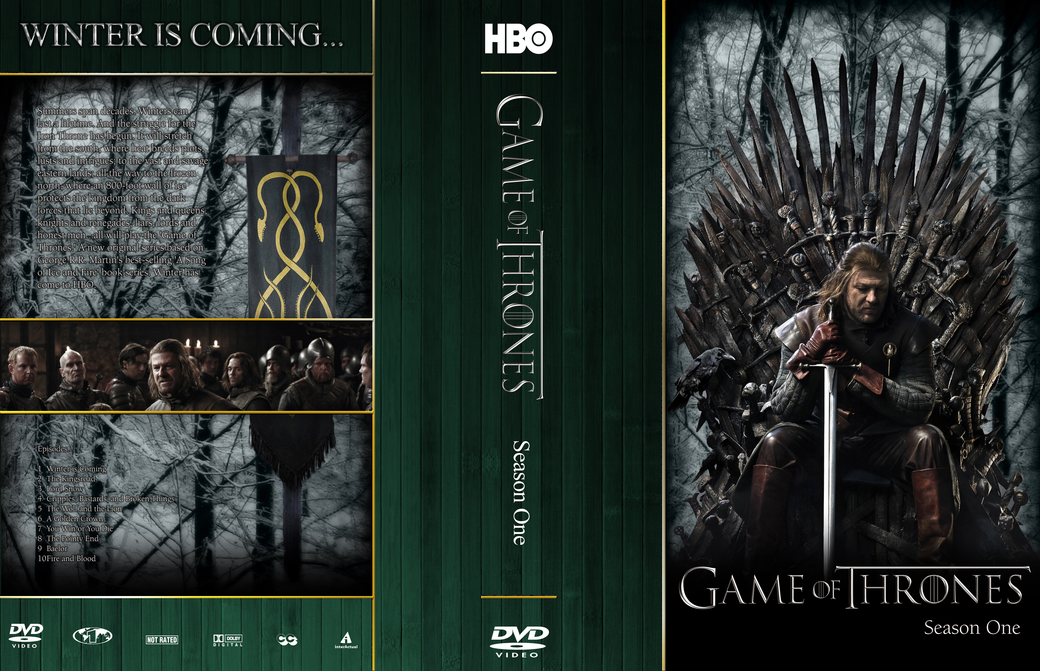 Game Of Thrones Season 1 R1 Cover By Mastrada101 On DeviantArt