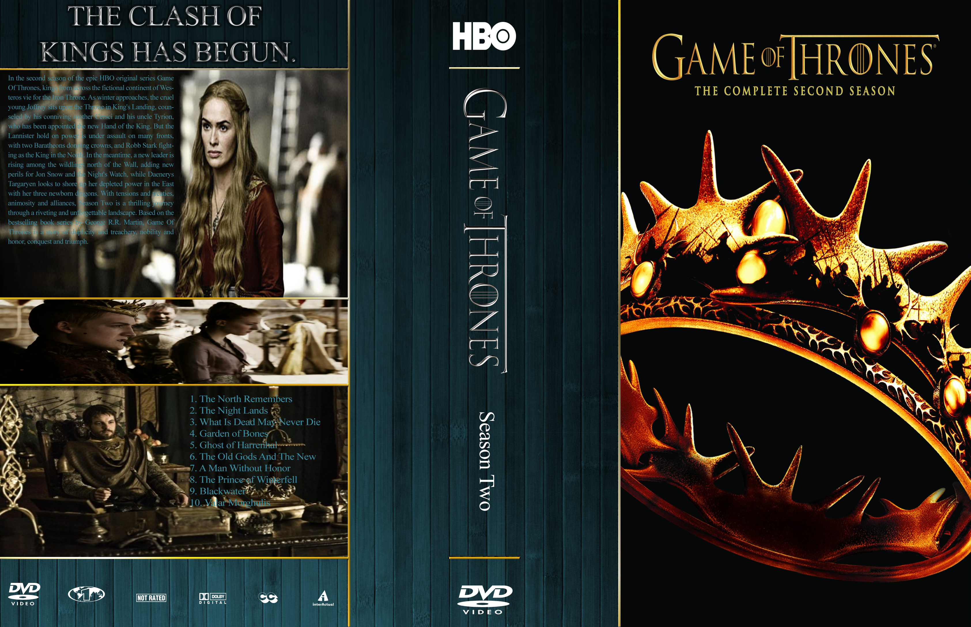 Game Of Thrones Season 2 R1 Cover By Mastrada101 On DeviantArt