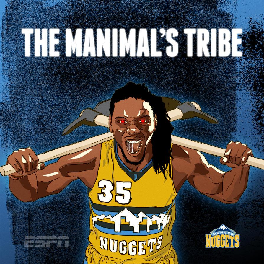 Denver Nuggets - The Manimal by slicknog on DeviantArt
