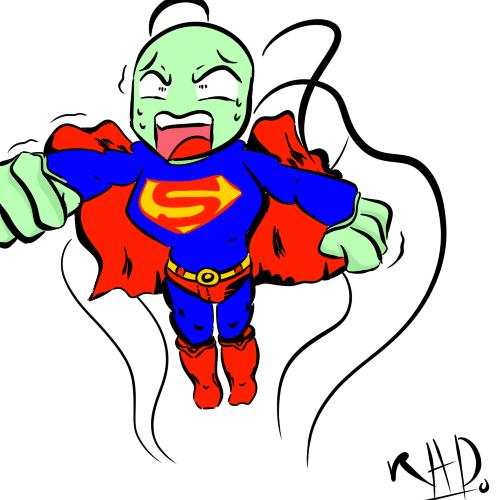 Superman Alien by Robot-and-Alien-Dude