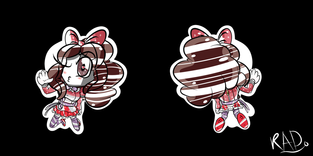 Niele Keychain (Front and back) by Robot-and-Alien-Dude