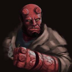 Hellboy by iKEETart