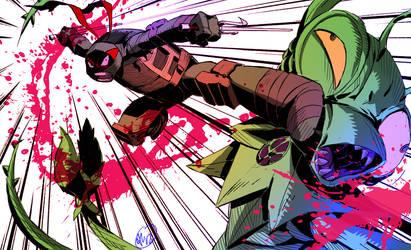 Raph got Ninja Kicks by alanwandingo