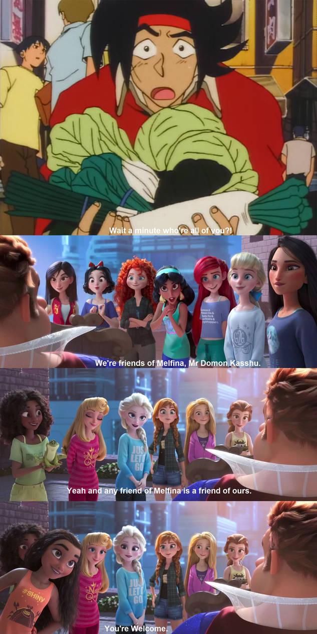 Domon meets the Disney Princesses