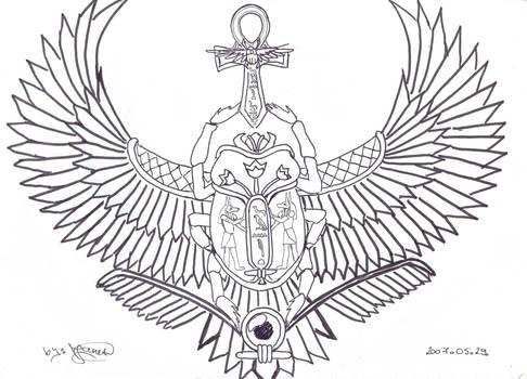 My Winged Scarab Tattoo
