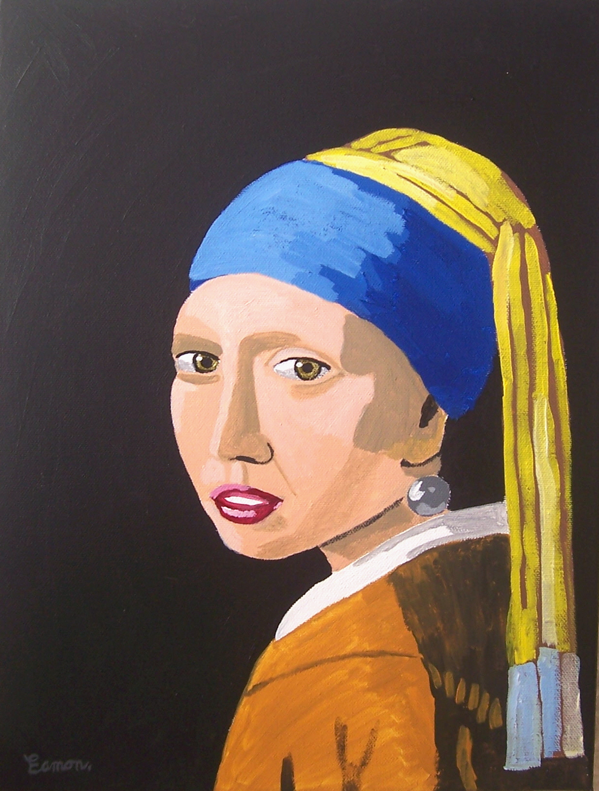 Tribute To Vermeer Girl With Pearl Earring By Wwweamonreillydotcomvermeer  Girl With A Pearl Earring