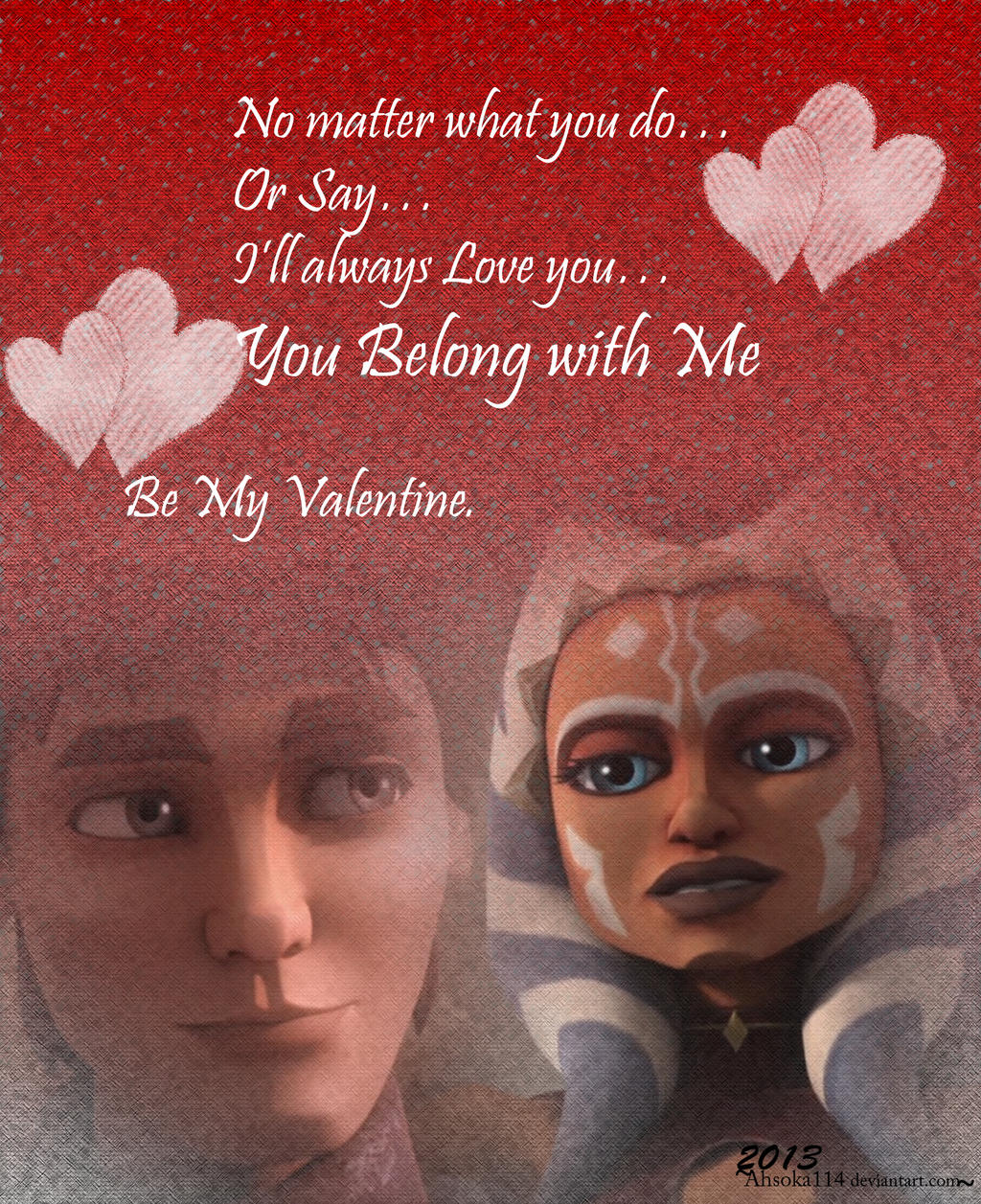 You Belong with Me-LuxSoka Valentine by Ahsoka114