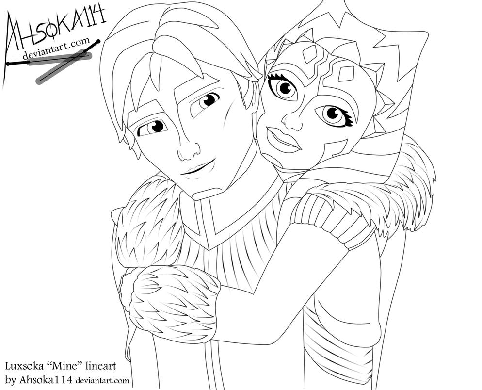 Luxsoka ''Mine'' lineart by Ahsoka114