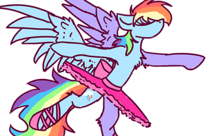 Rainbow Dash in tutu becouse you rarely see that by xMagicDarknessx