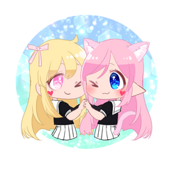 Tohka and Neko