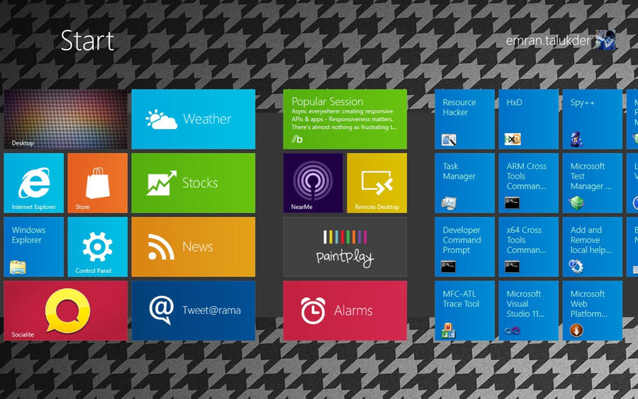 houndstooth win8 theme