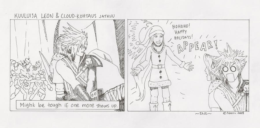 Cloud and Leon scene KH2 pt. 2 by Namipulla