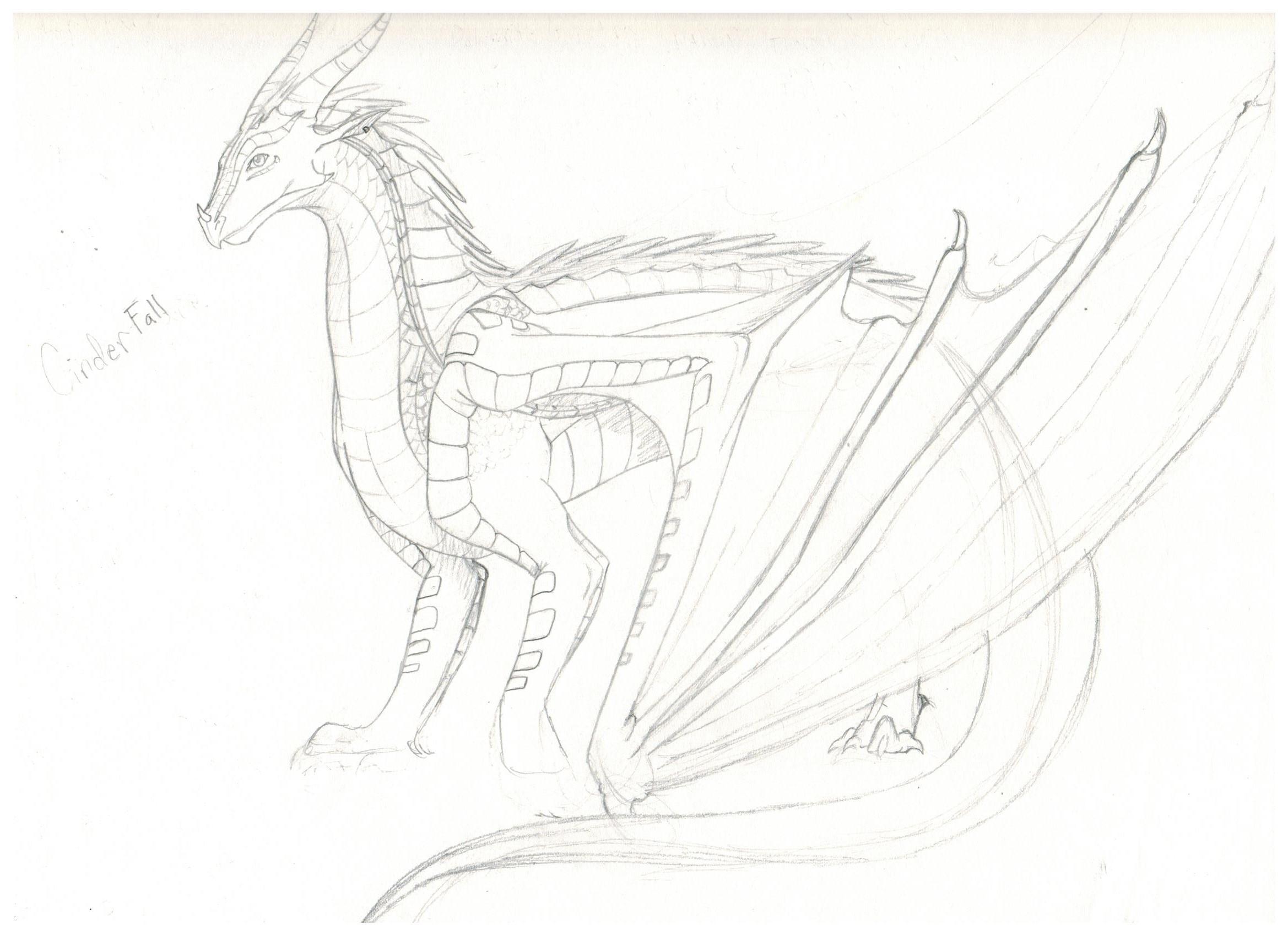 Wings of Fire OC-Cinderfall WIP by Proxamina