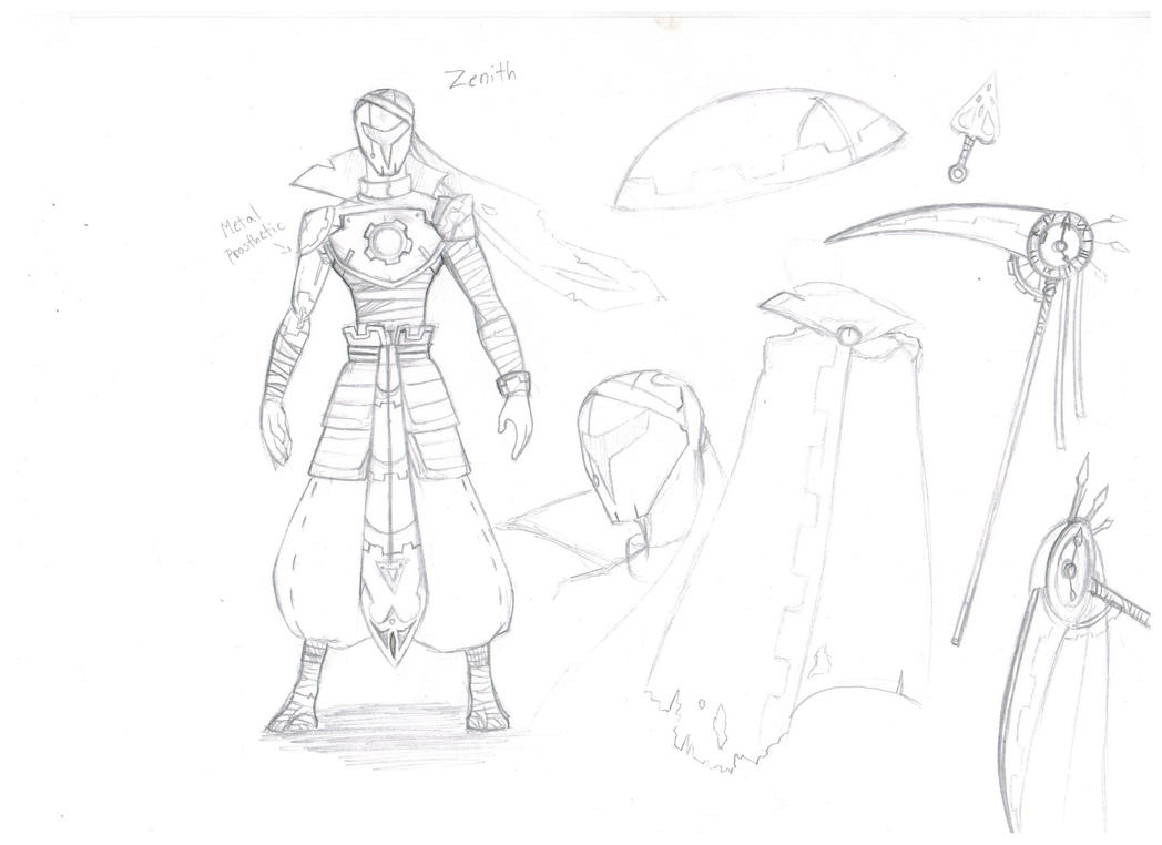 Zenith reference sheet sketch by Proxamina