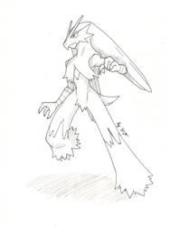 Art Project #8 (Pokemon)- Blaziken by Proxamina