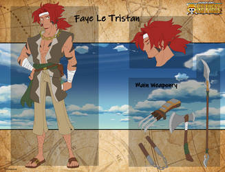 One piece oc- Faye le tristan Reference Sheet by Proxamina