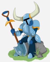 Shovel knight- Waiting for Adventure by Proxamina