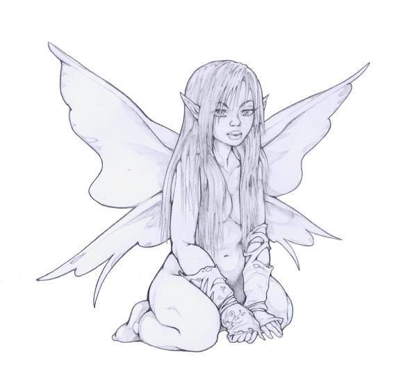 long hair fairy by Pallat