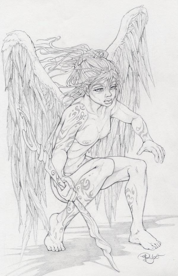warrior angel by Pallat