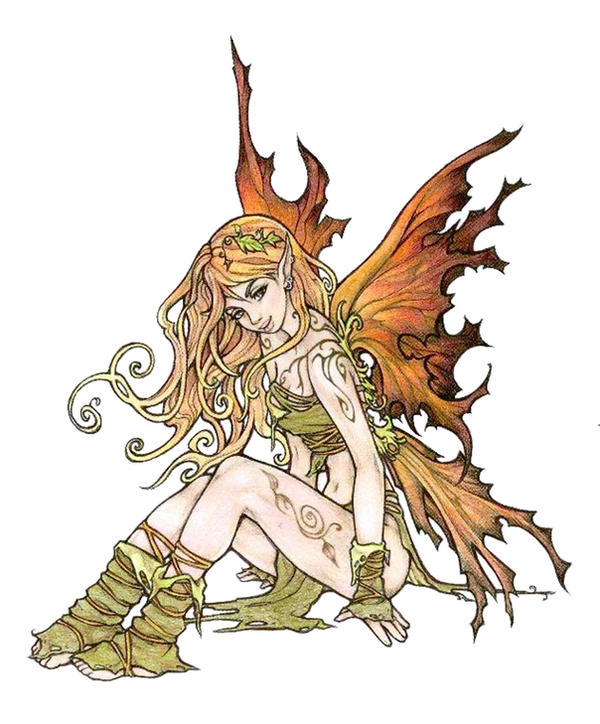 Autumn fairy, colour by Pallat on DeviantArt