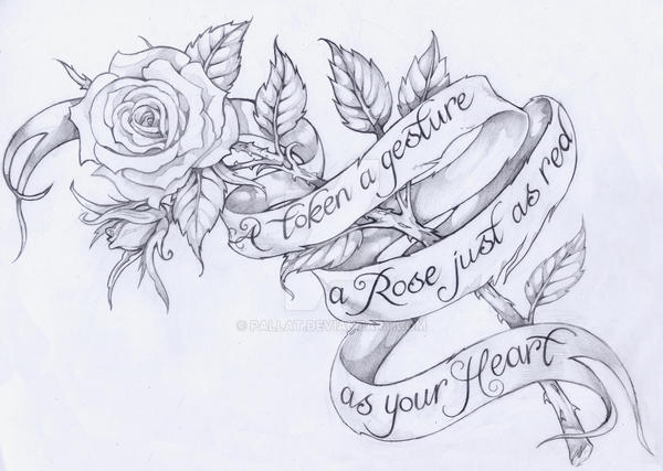 Rose With Script By Pallat On Deviantart