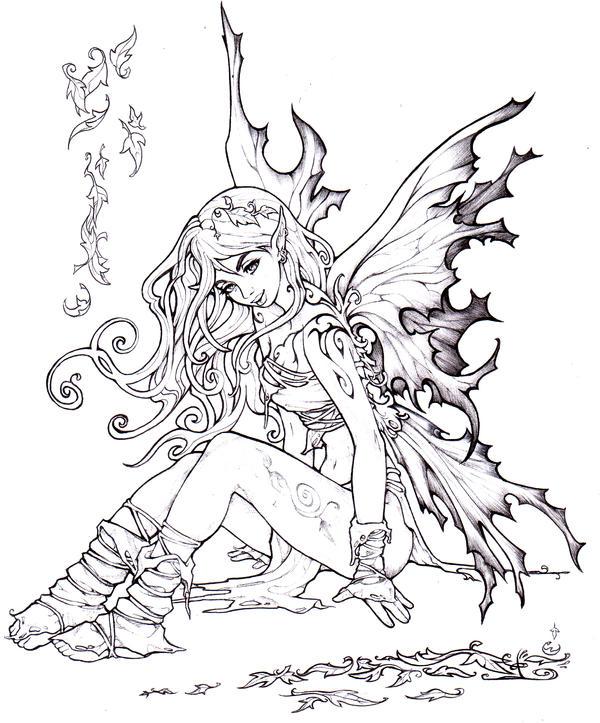 Autumn fairy by Pallat on DeviantArt