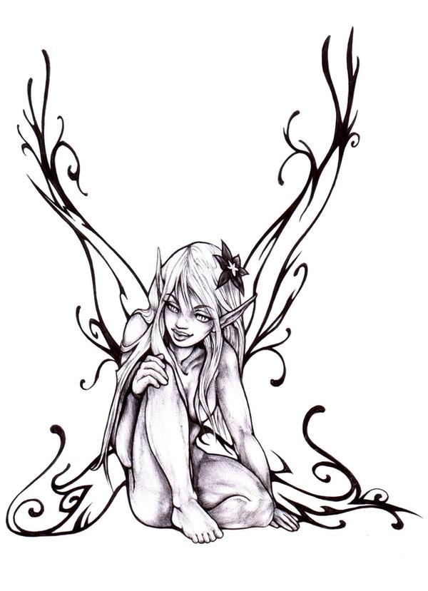 black fairy by Pallat on DeviantArt